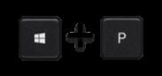 Windows Key plus P image